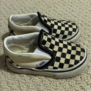 Checkerboard Vans- toddler size 4
